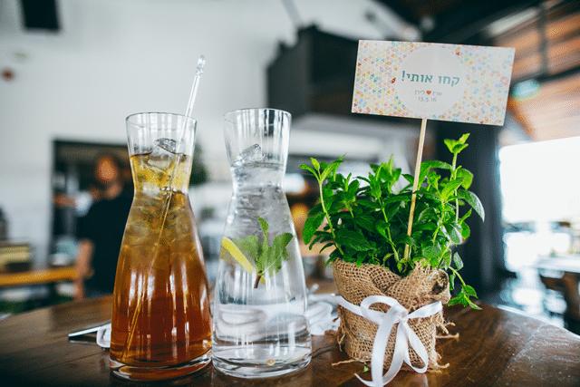 מרכזי שולחן בשימוש צמחי תבלין